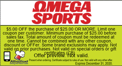 omega sports  coupons