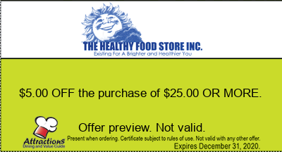 $5.00 OFF the purchase of $25.00 OR MORE.