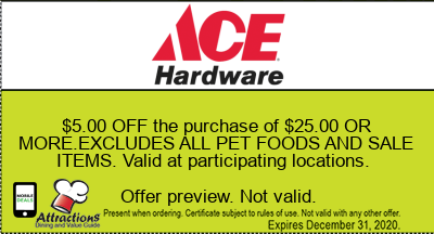 $5.00 OFF the purchase of $25.00 OR MORE.EXCLUDES ALL PET FOODS AND SALE ITEMS. Valid at participating locations.