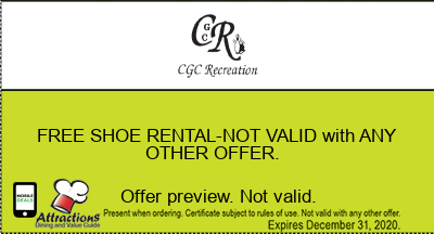 FREE SHOE RENTAL-NOT VALID with ANY OTHER OFFER.