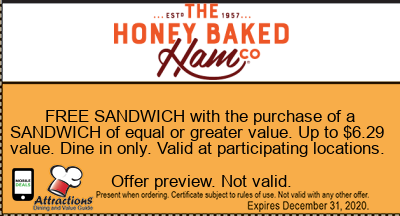 FREE SANDWICH with the purchase of a SANDWICH of equal or greater value. Up to $6.29 value. Dine in only. Valid at participating locations.