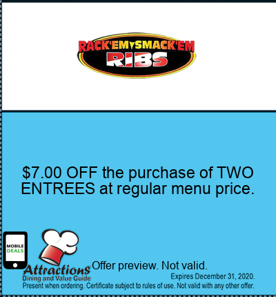 $7.00 OFF the purchase of TWO ENTREES at regular menu price.
