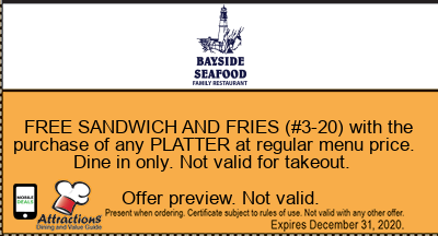 FREE SANDWICH AND FRIES (#3-20) with the purchase of any PLATTER at regular menu price. Dine in only. Not valid for takeout.