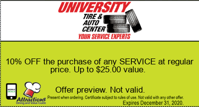 10% OFF the purchase of any SERVICE at regular price. Up to $25.00 value.