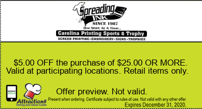$5.00 OFF the purchase of $25.00 OR MORE. Valid at participating locations. Retail items only.