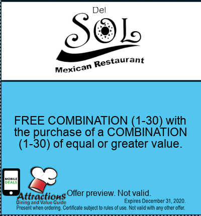 FREE COMBINATION (1-30) with the purchase of a COMBINATION (1-30) of equal or greater value.