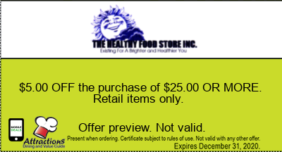 $5.00 OFF the purchase of $25.00 OR MORE. Retail items only.