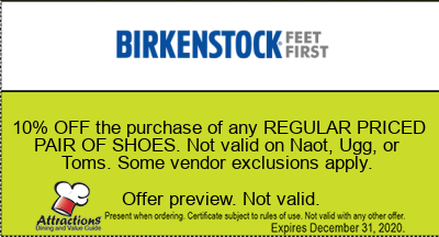 10% OFF the purchase of any REGULAR PRICED PAIR OF SHOES. Not valid on Naot, Ugg, or Toms. Some vendor exclusions apply.