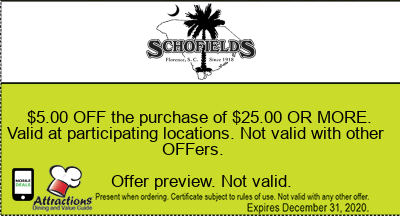 $5.00 OFF the purchase of $25.00 OR MORE. Valid at participating locations. Not valid with other offers.