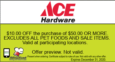 $10.00 OFF the purchase of $50.00 OR MORE. EXCLUDES ALL PET FOODS AND SALE ITEMS. Valid at participating locations.