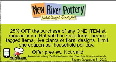 25% OFF the purchase of any ONE ITEM at regular price. Not valid on sale items, orange tagged items, live plants or floral designs. Limit one coupon per household per day.