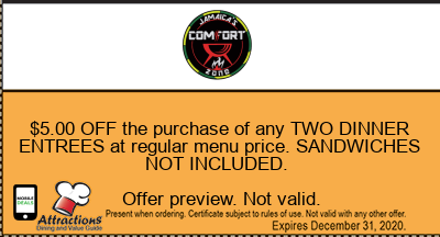 $5.00 OFF the purchase of any TWO DINNER ENTREES at regular menu price. SANDWICHES NOT INCLUDED.
