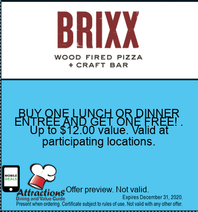 BUY ONE LUNCH OR DINNER ENTREE AND GET ONE FREE! . Up to $12.00 value. Valid at participating locations.